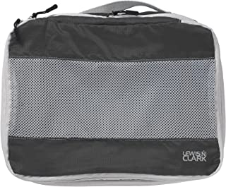 Lewis N. Clark ElectroLight Expandable Compression-Packing Cube + Travel Organizer for Luggage, Suitcase or Carry On with Smart Design Grab Handle & Breathable Mesh, Large, Charcoal