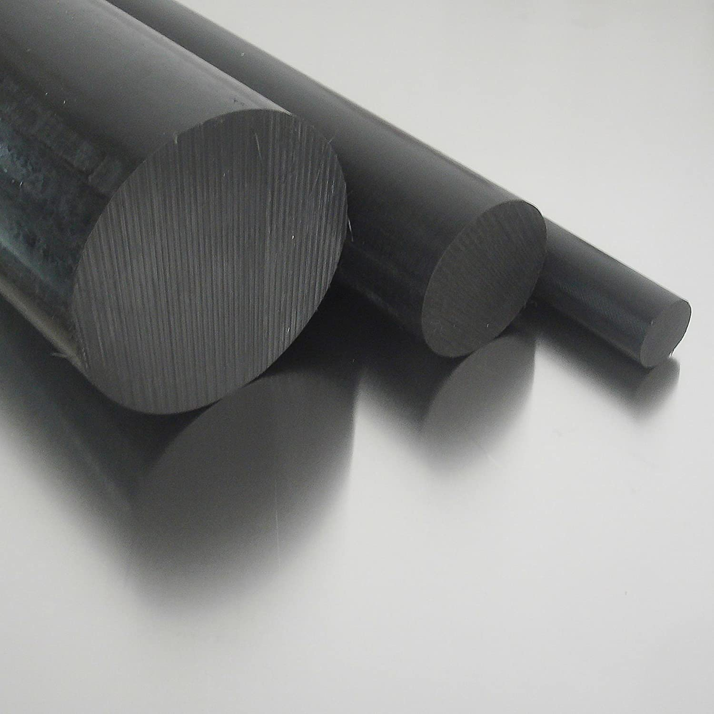 100cm Rundmaterial Zuschnitt L: 1000mm Polyamid PA6 Rundstab schwarz /Ø 6mm