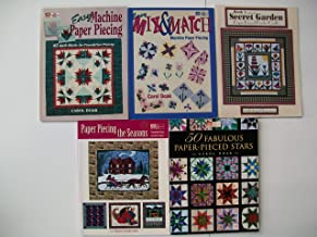 Quilt Paper Piecing Books (Set of 5) Easy Machine Paper Piecing, Easy Mix & Match Machine Paper Piecing, Secret Garden Paper Pieced Border, Paper Piecing the Seasons, 50 Fabulous Paper-Pieced Stars