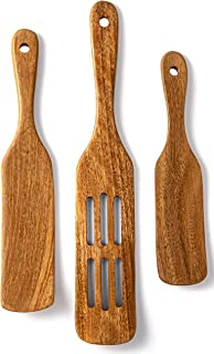 Spurtle Wooden Kitchen Utensil Set, Acacia Spurtle Kitchen Sets Non-Stick Wooden Cooking Utensils Wooden Spatula Slotted S...