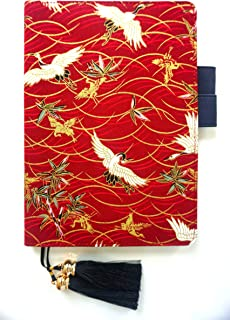Boge Original Hand Embroidered Hardcover Writing Notebook Journal Notepad Diary Gift Album Brochure A5, 160 pages, 8.6×6.3 in (red)