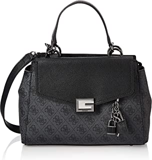 GUESS Women's Valy Girlfriend Satchel Shoulder Bag, Color: Black