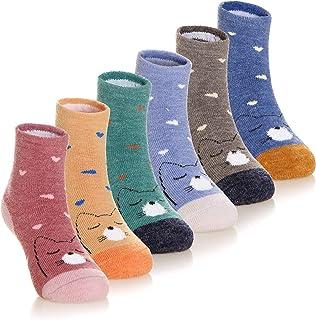 Breathable Socks with Grip for Infant Toddler Newborn Kids Girls Boys BESPORTBLE Kids Anti-Skid Socks 3 Pairs Cotton Baby Trampoline Socks