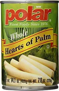 MW Polar Canned Vegetables, Hearts of Palm, 14 Ounce (Pack of 12)
