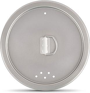 FinessCity - Tapa universal de titanio para utensilios de cocina de 3 piezas, compatible con 1,2 l, 800 ml y 400 ml Una tapa para todos los tres
