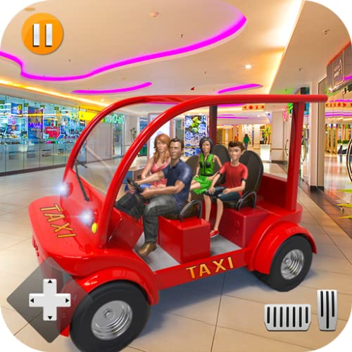 Modern Shopping Mall NY Smart Radio Taxi Car Driving Simulator: Ultimate US Supermarket Games 2020