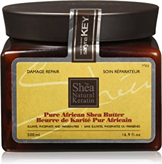 Saryna Key Damage Repair Shea Butter, Pure African Shea Butter for Natural Skin and Hair Moisturizer, Organic African Shea Butter - 500ml/ 16.9 FL.oz