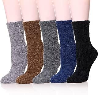 Womens Plush Slipper Socks Super Soft Fuzzy Cozy Home Sleeping Winter Warm Casual Socks