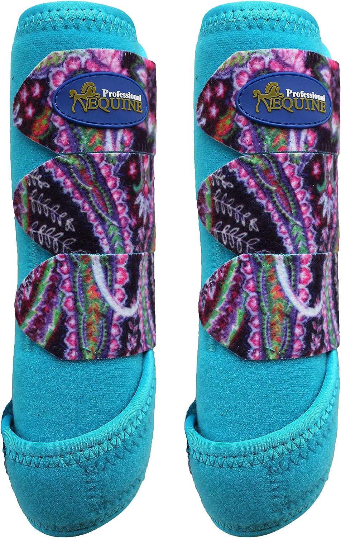 Professional Equine Horse Medium Sports Medicine Front Splint Boots Floral 4174A