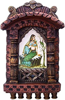 Lady Enjoying with Parrot, Rajasthani Traditional Jarokha