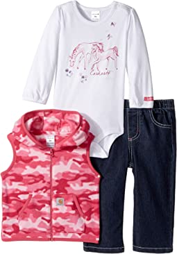 Carhartt Kids - Horse Friends Three-Piece Pants Set (Infant)