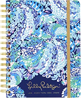 "$28 » Lilly Pulitzer Large 2020 12-Month Annual Hardcover Planner with Daily, Weekly, Monthly Spreads for Jan. 2020 – Dec. 2020, 8.88"" x 6.75"", Wave After Wave"