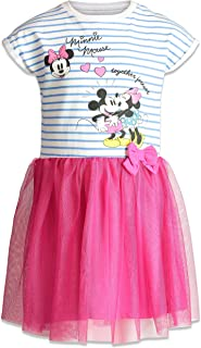 Disney Minnie Mouse Girls` Short Sleeve Tulle Dress