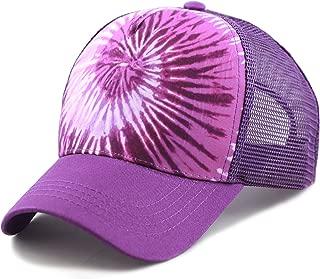 Tie Dye Print Mesh Back Snapback Trucker Cap Hat