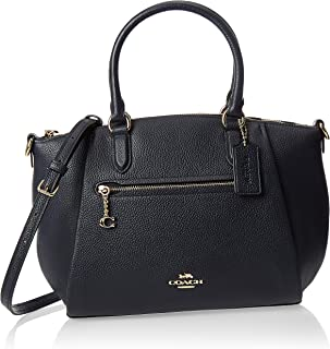 Coach Womens Satchel Bag, Gold/Midnight Navy - 79316 GDBHP