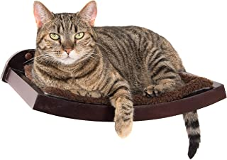 Art of Paws Cat Shelf   Cat Perch Cat Bed with Curved Cat Hammock Design   Elegant Wood Wall-Mounted Cat Furniture   A Gift Your cat Will Love