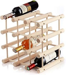 Casier à bouteilles de vin pour 12bouteillesen bois - modulable, extensible, personnalisable selon vos besoins- pratiqu...