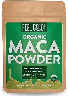 Organic Peruvian Maca Root Powder - Perfect for Smoothies, Baking, Energy - Raw From Peru - Non-GMO, USDA Organic - 4oz Resealable Bag - by Feel Good Organics