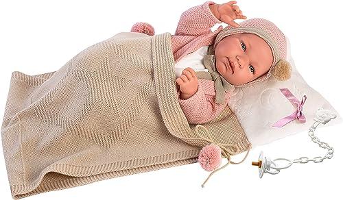 garantía de crédito Llorens 84318 Tina - muñeca (43 (43 (43 cm), Color beige  mejor opcion