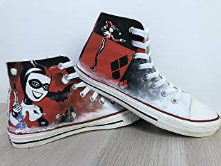 e5a2fc8f60c6f0 Harley Quinn Suicide Squad Custom Chuck Taylor Riverdale Shoes Sneakers For  Girls Hand Painted Shoes Hi
