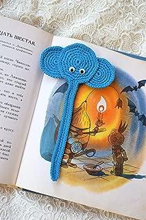 crochet elephant bookmark
