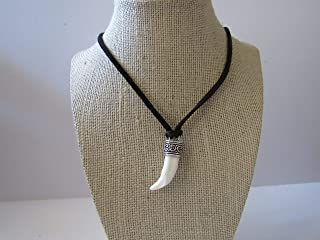 Coyote Tooth Pendant Necklace Animal Bone Spirit Animal Jewelry N918