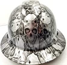 Wet Works Imaging Customized Pyramex Full Brim Engraved Skulls Hard HAT with Ratcheting Suspension Custom LIDS Crazy Sick Construction PPE