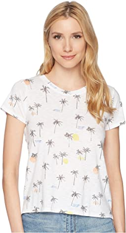 Lucky Brand - All Over Palm Tree Tee
