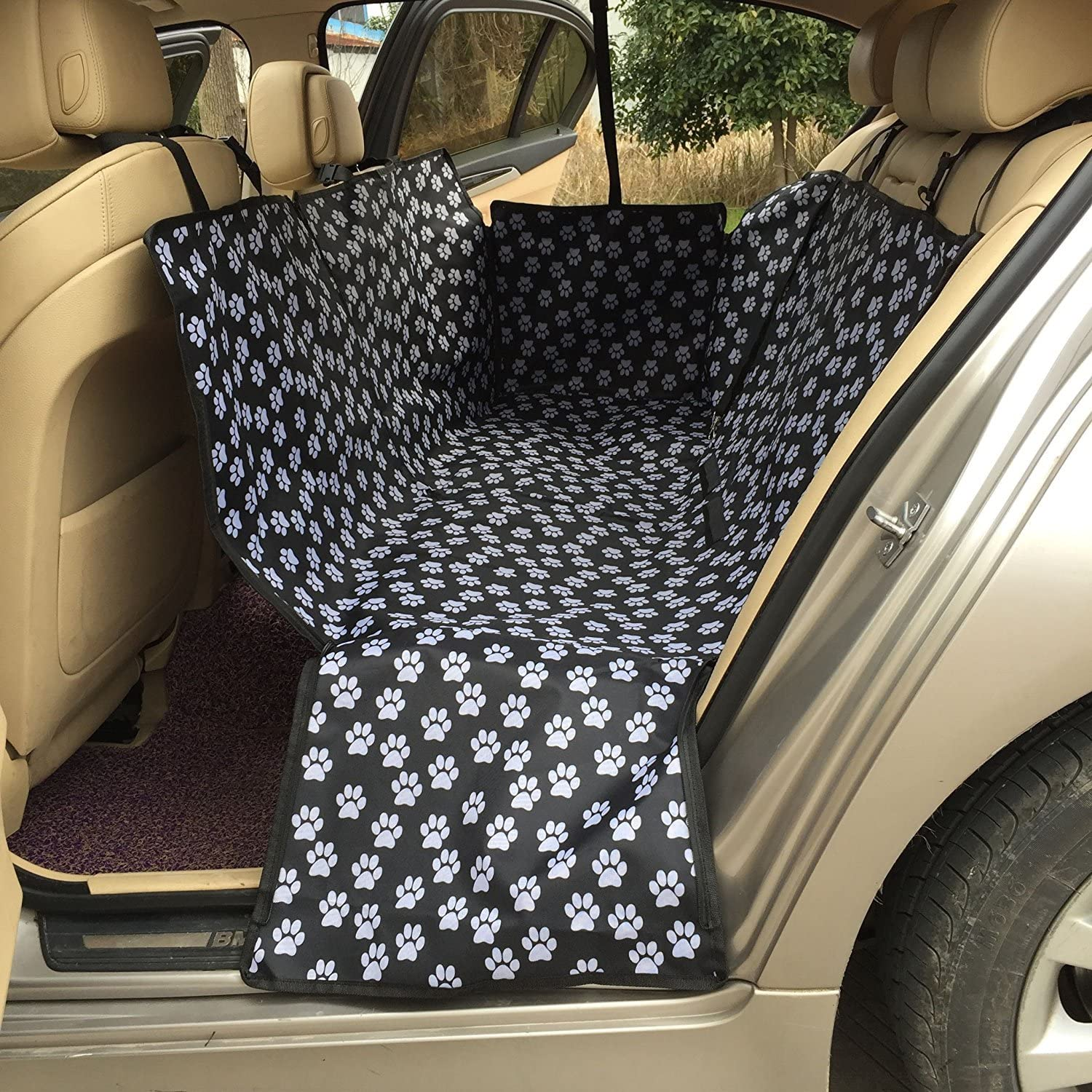 Haocoo Pet Seat Cover, Back Seat Covers for Dogs Cats Waterproof and Slipproof Fits Most Cars, SUV, Vans & Trucks