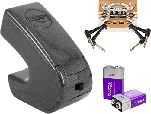 2021 Heet 2021 EBow Handheld Electronic Bow for Electric Guitars Bundle with Blucoil 2-Pack high quality of Pedal Patch Cables, and 2-Pack of 9V Alkaline Batteries outlet sale