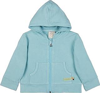 Loud + Proud Kapuzenjacke Strukturmuster, GOTS Zertifiziert Jacket, Lagoon, 98/104 Mixte bébé