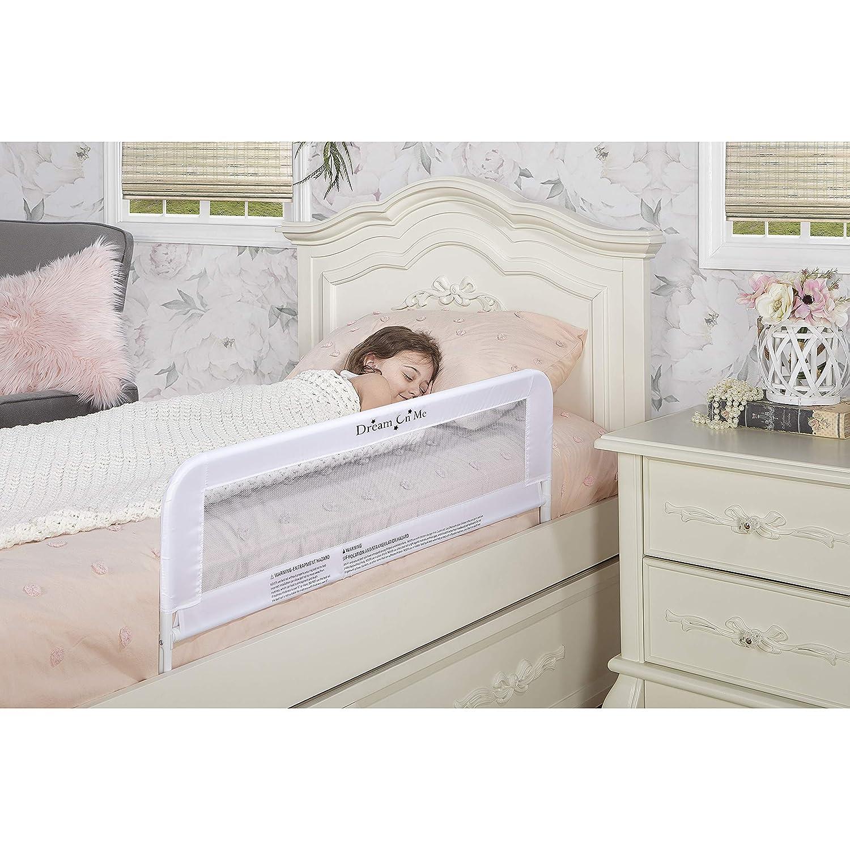 Dream On Me Adjustable Bed Rail, White, 3 Pound