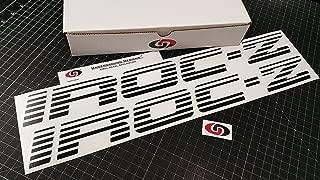 UNDERGROUND DESIGNS IROC-Z Faded Blind Door Decals Third Gen Camaro Stickers Select Color: (Matte Blackout, 2.0