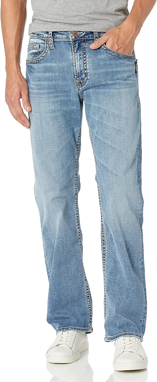 セール 登場から人気沸騰 Silver Jeans Co. Men's Zac Leg 国内正規総代理店アイテム Fit Relaxed Straight
