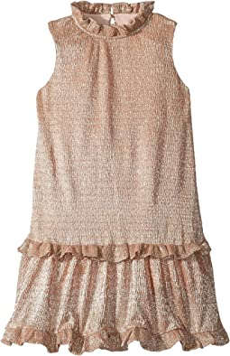 Metallic Ruffle Dress (Toddler/Little Kids)
