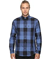Ben Sherman - Long Sleeve Textured Oversized Gingham Woven Shirt