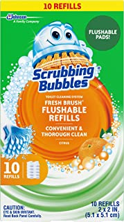 Scrubbing Bubbles Fresh Brush Flushables Refill, Citrus Action Scent, 10 ct