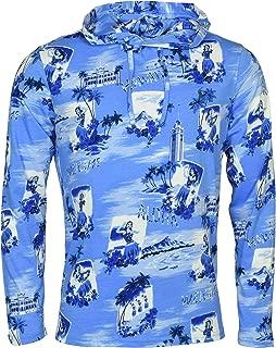 Men's Long Sleeve Hawaiian Print Jersey Hoodie