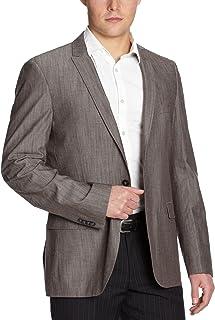 ESPRIT Collection Men's Reverse Collar Long - Regular Jacket