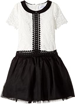 Short Sleeve Peter Pan Collar with A Drop Waist (Toddler/Little Kids)