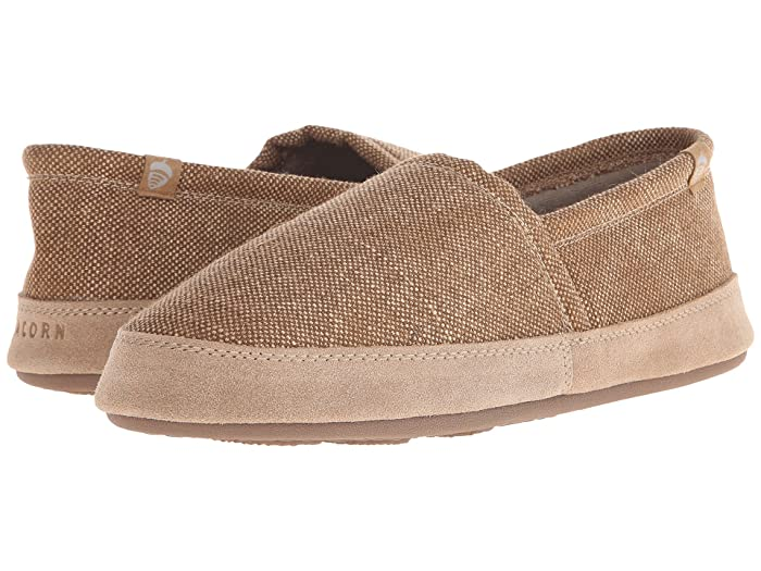 Acorn   Moc Summerweight (Toast Canvas) Mens Slippers