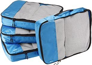 AmazonBasics 4 Piece Packing Travel Organizer Cubes Set - Large, Blue