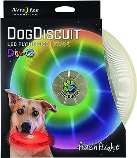 Nite Ize Flashflight, Dog Discuit Disco - LED Light-Up Flying Disc Frisbee - New