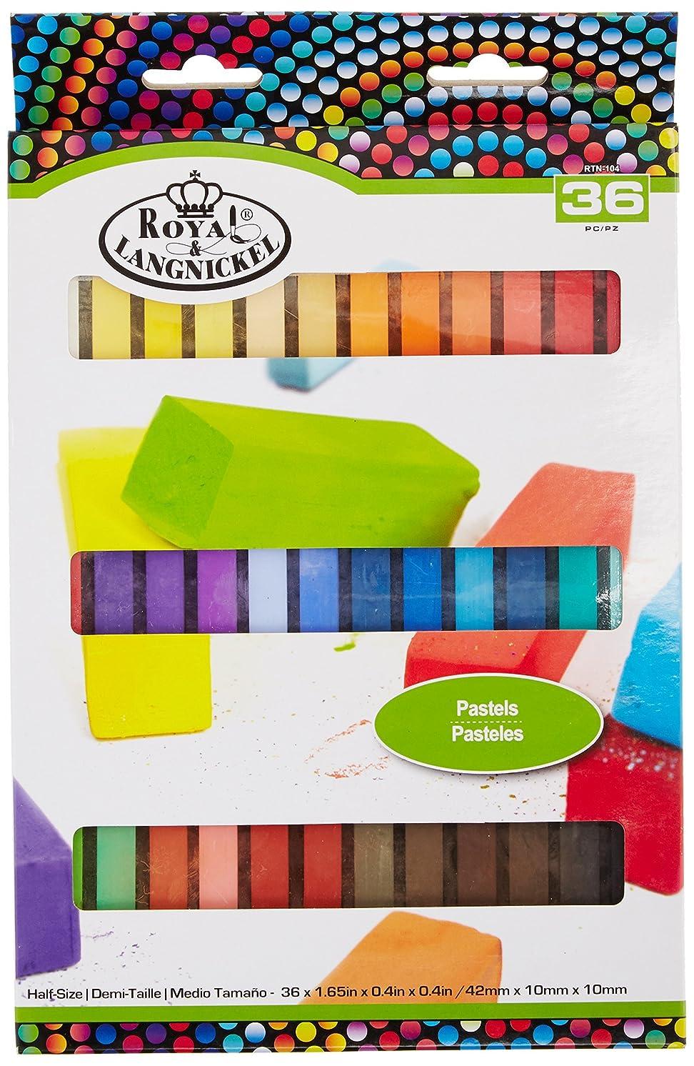 ROYAL BRUSH Pastels Half Size Pastels-36/Pkg