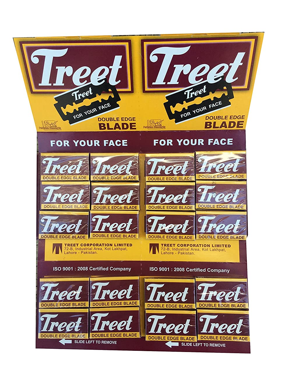 Treet Carbon Steel 両刃替刃 200枚入り(10枚入り20 個セット)【並行輸入品】