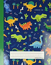Dinosaur Era - Primary Story Journal: Dotted Midline and Picture Space | Grades K-2 School Exercise Book | 100 Story Pages...