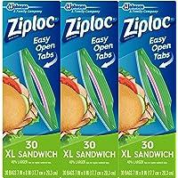 90-Count (3 x 30-Count) Ziploc Sandwich Bags XL