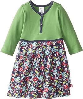 Zutano 女童条纹漂亮褶皱连衣裙