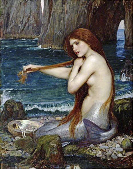 Amazon Com Art Print The Mermaid By John Williams Waterhouse 8 10 Print Posters Prints