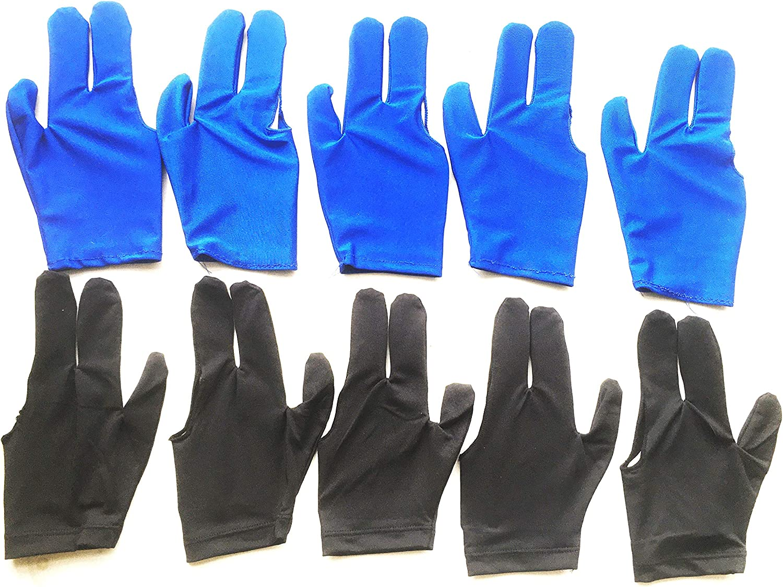 LLJ Billiard Gloves 12 PCS Set Pool Cue Lef for Max 63% OFF Fingers 3 Online limited product